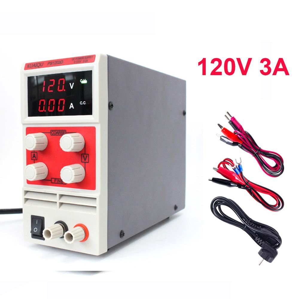 Wanptek PS Mini 120V 3A DC Power Supply Adjustable Digital Voltage Regulator Laboratory Regulator Power Supplies Source Testers Switching Power Supply     - title=