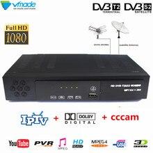 Vmade DVB T2 S2 8902 كامل HD الرقمي الأرضي جهاز استقبال قنوات الأقمار الصناعية للتلفزيون H.264 MPEG 2/4 FTA موالف التلفزيون مجموعة أعلى مشغل وسائط تي في بوكس