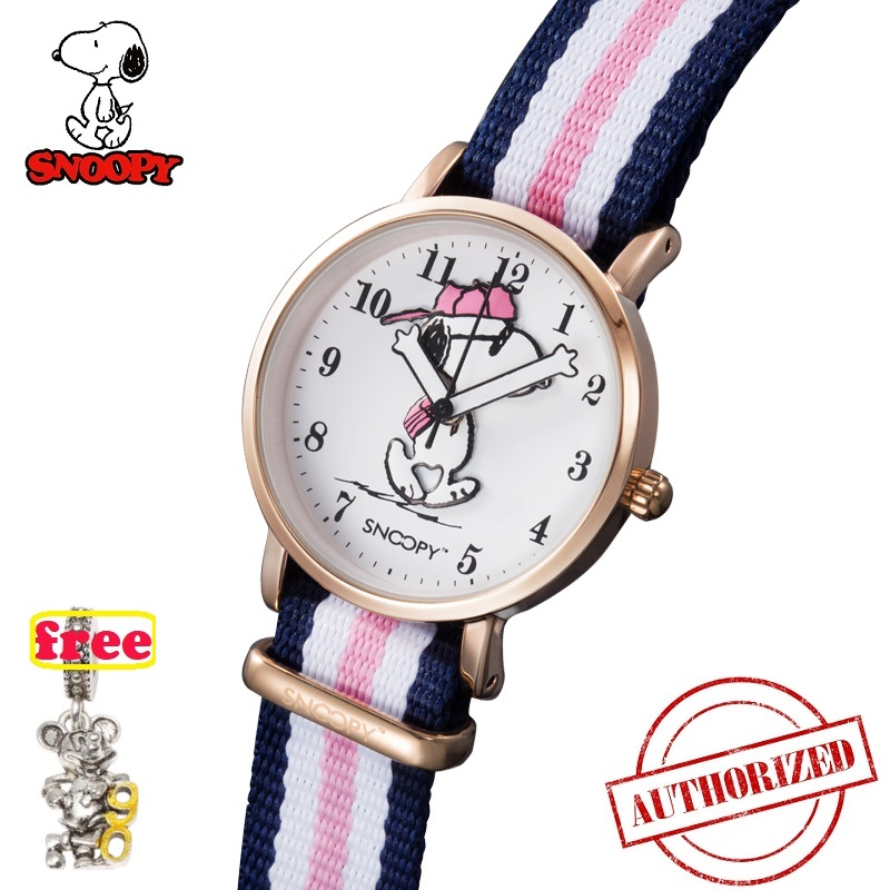 SNOOPY Classic Striped Nylon Strap Girls Watches Top Brand Women  2019 Casual Concise  Watch Reloj Mujer Clock DW Watches SNW814