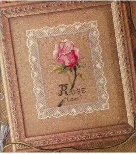 Us 685 51 Off14ct Kreuzstich Rosa Rose Blumen Und Spitze Land Stil Romantisches Restaurant Hochzeit Dekoration Geschenk Kleine Pciture In Paket
