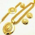 2016 Mulheres Moda dubai africano banhado a ouro conjuntos de jóias conjuntos de jóias de grau Superior Sets partido Jóias Para Engajamento