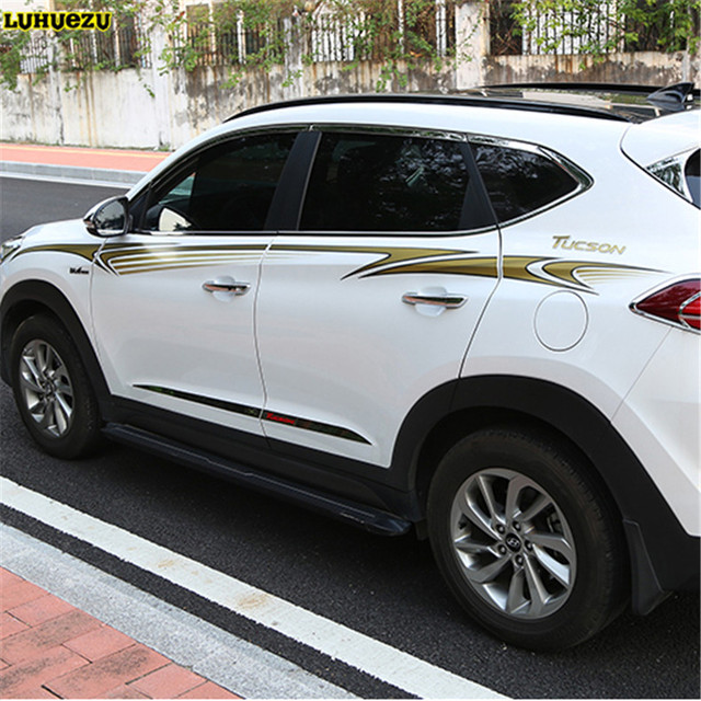 Luhuezu 3M Car Sticker For Hyundai Tucson 2015 2016 2017 ...