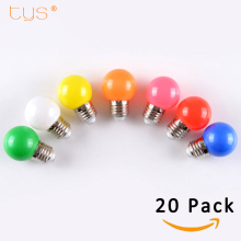 20Pcs Lampada LED Lamp Colorful Bombillas E27 G45 220V LED Light SMD 2835 Lamparas Led Bulbs Colorful bulb Light flashlight LED