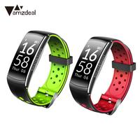 Amzdeal Q8 Waterproof Bluetooth Sports Smart Armband Watch Hartslagmeter Heart Rate Fitness Information for Android iOS Gift