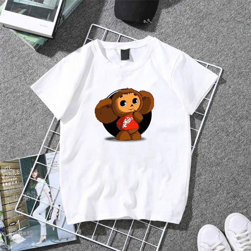 CHEBURASHKA Lovely   T  -  Shirt   Lady Classic   T     Shirt   Women 100% Cotton Summer Tops Girl Trendy Russia Style White   T  -  shirts