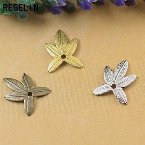 REGELIN Filigree Copper Leaf Charms 20pcs/lot 11*14mm 6 Colors DIY Jewelry Making Components DIY Jewelry Accessories
