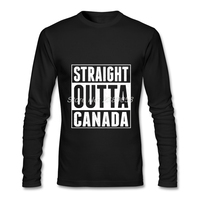 Summer Style Mens T Shirt Straight Outta Canada Latest Long Sleeve O Neck Tee Tops Organic