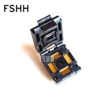 цена на IC51-1284-1702 test socket TQFP128 QFP128 IC SOCKET Pitch=0.4mm
