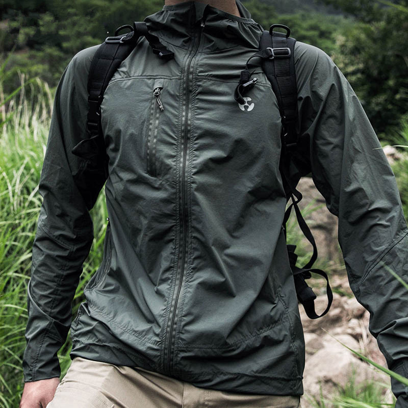 Ultralight Thin Outdoor Sport Riding Stretch Sunscreen Skin Windbreaker Men Women Fishing Climbing Anti UV Breathable Jacket Top