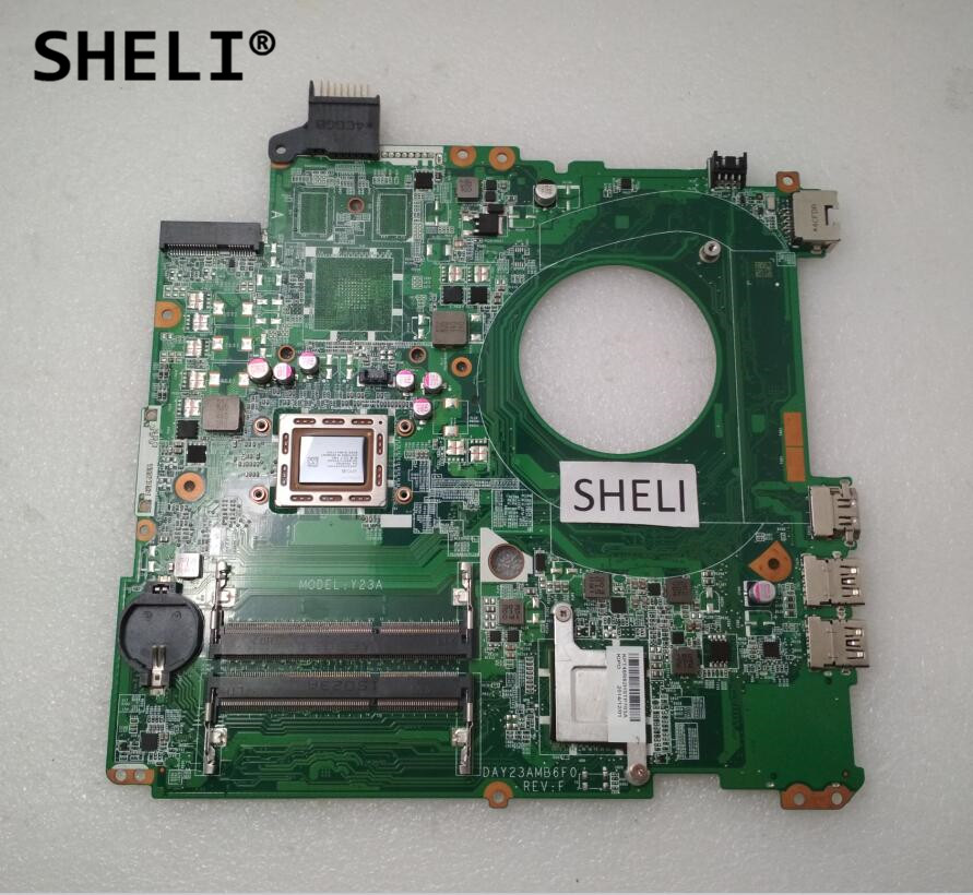 SHELI For HP 15 15-P071NR 15-P Motherboard with A8-5545 DAY23AMB6C0 766713-501 766713-001 744009 501 744009 001 for hp probook 640 g1 650 g1 motherboard socket 947 hm87 ddr3l tested working