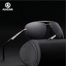 KDEAM 2019 Fashion Polarized Pilot Style Sunglasses Matte Black Frame HD Sport Shades 100%UV400 5 Colors KD558