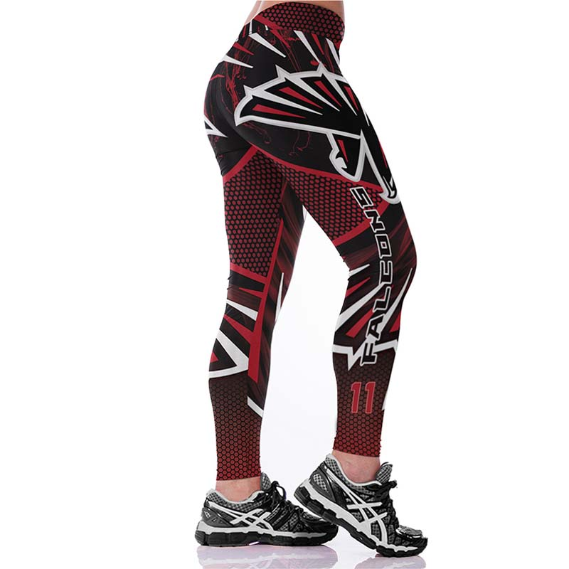 J&L 2017 New Plus Size Teams Leggings Women Match Raider Fitness Legging Sporting 3D Print High Elastic No Transparent Pants