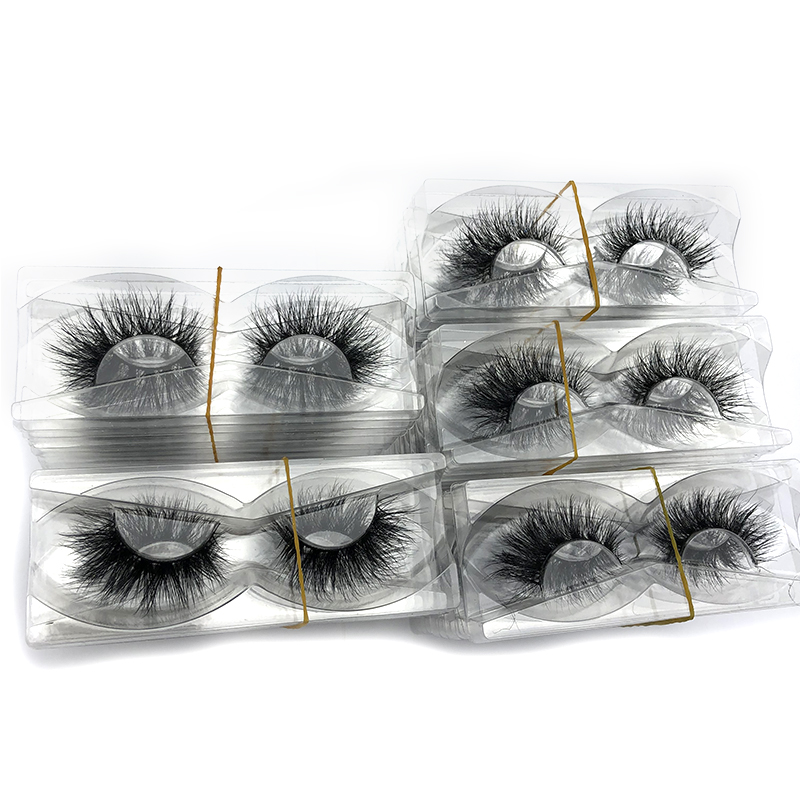 Image 2 - Mikiwi wholesale 50 pairs/pack 3D Mink Lashes No packaging Full Strip Lashes Mink False Eyelashes custom box Makeup eyelashes-in False Eyelashes from Beauty & Health