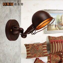 W stylu amerykańskim rh loft kinkiet mechaniczne głowy sypialnia światło bar w stylu vintage żelaza kinkiet darmowa wysyłka w Lampy ścienne od Lampy i oświetlenie na