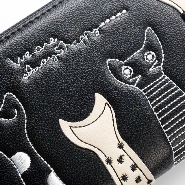 Cat Cartoon Casual Zip Wallet