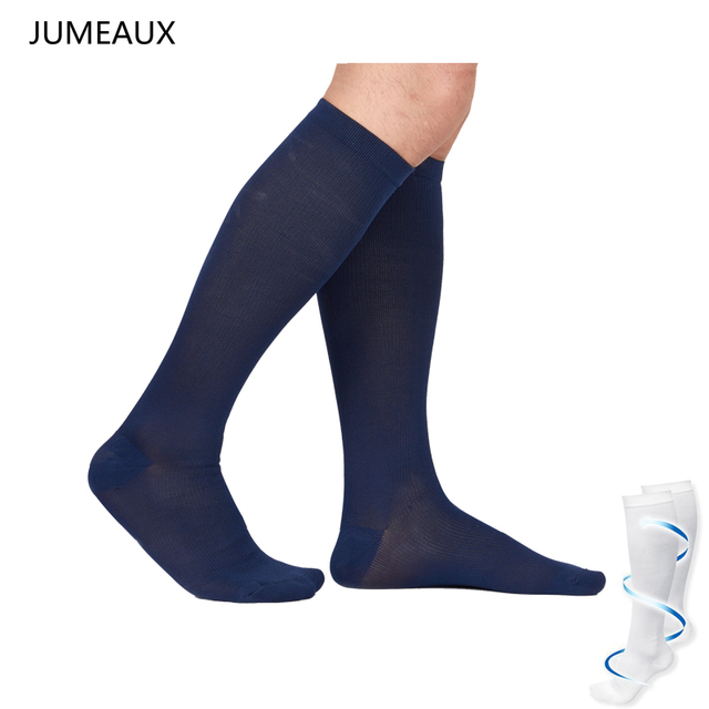 ebd1fe427b3302 JUMEAUX Men Anti-Fatigue Compression Socks Comfortable Breathable Solid Socks  Unisex Magic Stockings