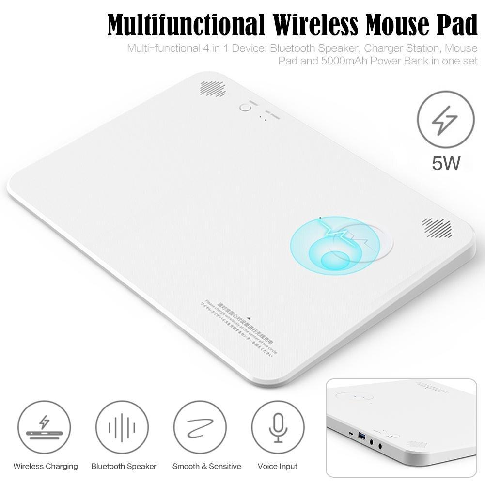 Multimédia Bluetooth haut-parleur sans fil charge tapis de souris sans fil Rechargeable tapis de souris brevet produit livraison directe 7.10