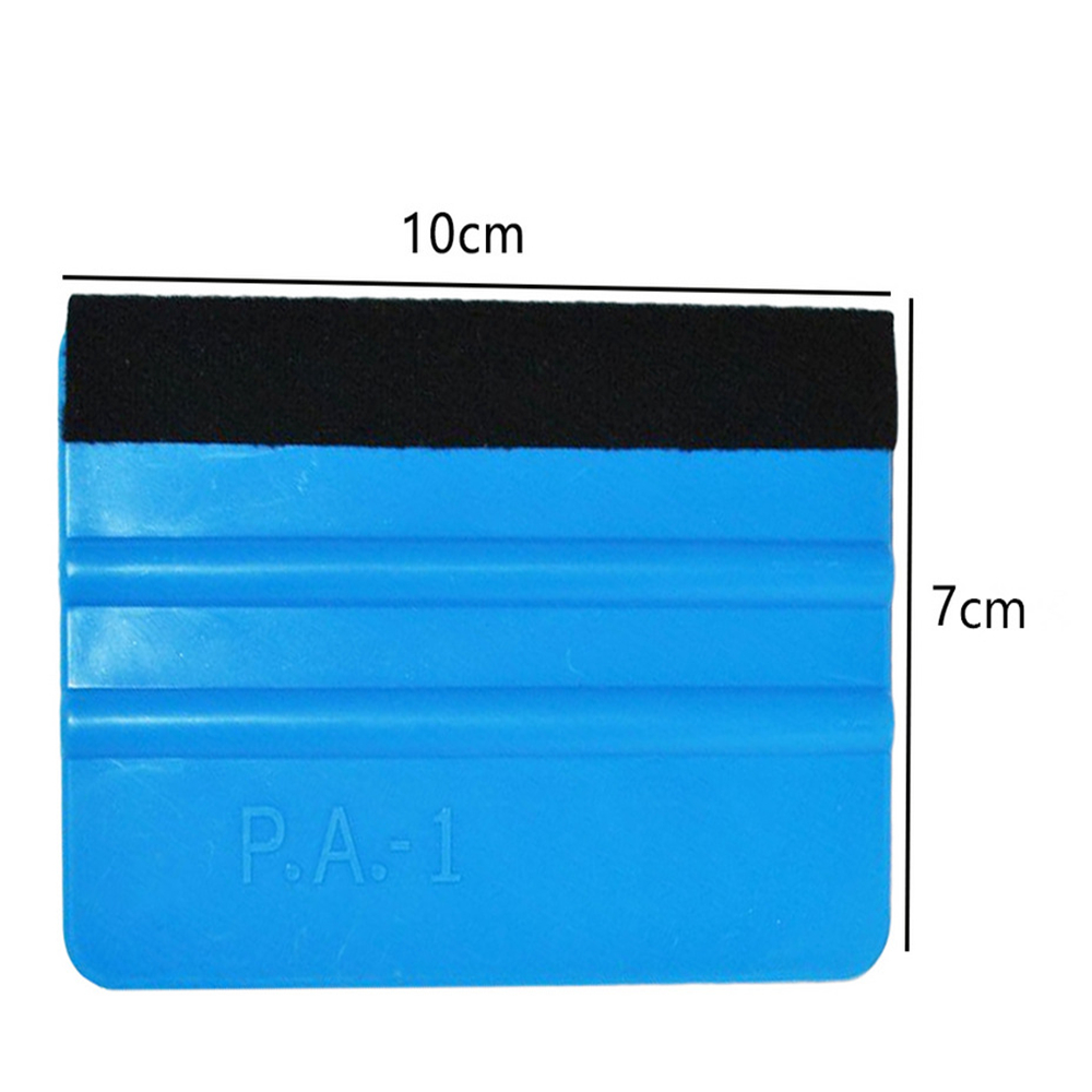 Image 5 - 1PCS Car Vinyl Film wrapping tools Blue Scraper squeegee with felt edge size 10cm*7cm Car Styling Stickers Accessories-in Scraper from Automobiles & Motorcycles