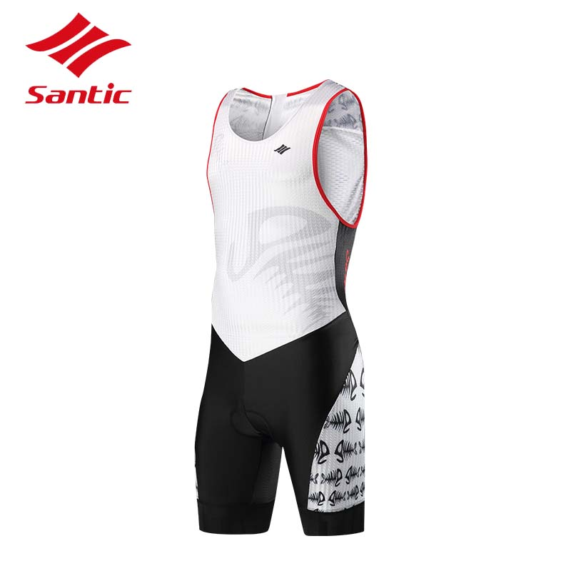 Santic Cycling Jersey MenTriathlon Sleeveless Clothes MTB Road Bicycle Jersey Sleeveless Quick Dry Bike Clothing Ropa Ciclismo west biking bike chain wheel 39 53t bicycle crank 170 175mm fit speed 9 mtb road bike cycling bicycle crank