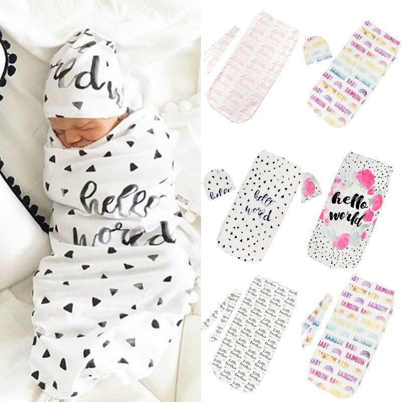 New Baby Infant Summer Swaddle Me Blanket Wraps Sleeping Bag  Cotton