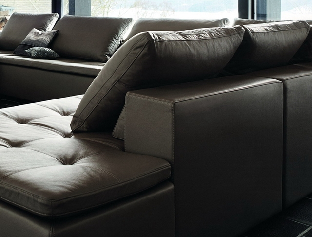 2013 NEW Style BOCONCEPT MEZZO Imported Genuine Leather Ash Wood Legs Sofa  Sets,modern Appearance