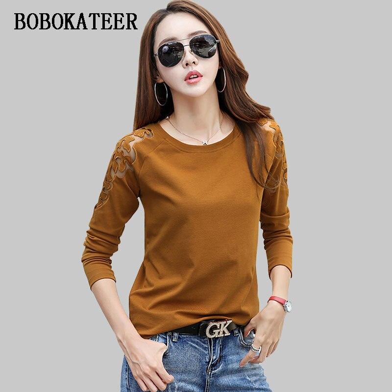 100% Wahr Bobokateer Off Schulter T-shirt Frauen Tops Oansatz T Shirts Frauen T Shirt Baumwolle T Shirt Femme Langarm T-shirt Camisetas