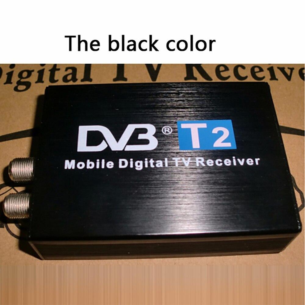 Voiture DVB-T2 TV Turner 120 km/h Double Antenne Russe et L'europe et L'asie du sud Mobile numérique Externe USB DVB T2 tv Box Récepteur