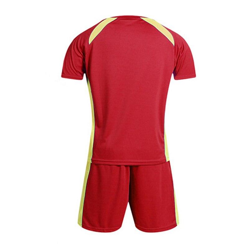 High Quality Soccer Jerseys 2018 2019 Men Custom Team Football Uniforms Sets College Futsal Wear Adult Football Training Kits