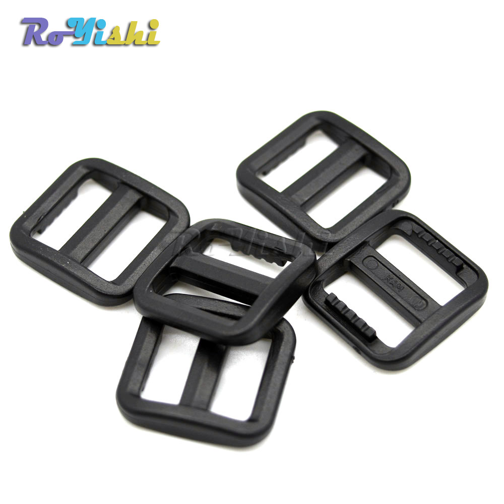 Slider Tri Glide Adjust Plastic Buckles For Dog Collar Harness Backpack Straps Black To Produce An Effect Toward Clear Vision 10pcs/pack 5/8 15mm