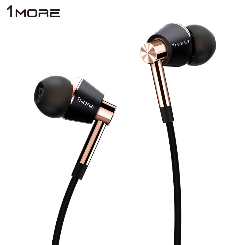 1MORE Triple Driver In-Ear Earphone with In-line Microphone and Remote E1001 fiio f1 dynamic in ear monitors earbuds high performance potential earphone with in line microphone and remote 3 5mm jack 120cm