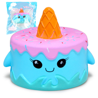 Jumbo Squishy Cute Whale Cake Squishies Super Slow Rising Cream Scented Original Package Phone Strap