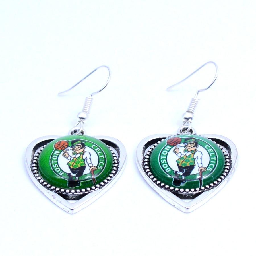 Earrings Boston Celtics Charms Dangle Earrings Sport Earrings Basketball Jewelry for Women Birthday Party Gift 5 pairs