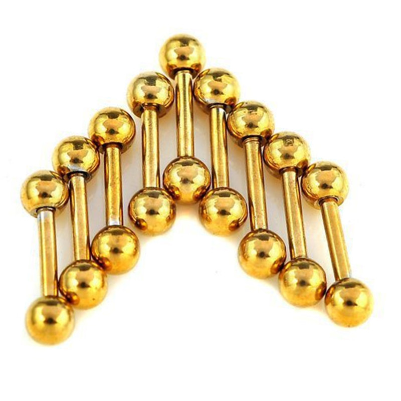 Mix Lot Wholesales 80Pcs Stainless Steel Eyebrow Piercing Belly Button Rings Naval Ear Nose Rings Lip Tongue Body Jewelry Gold in Body Jewelry from Jewelry Accessories