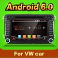 2 Din Quad Core android 6.0 dvd-плеер автомобиля Aux gps Стерео Для VW Skoda Fabia POLO GOLF 5 6 PASSAT CC JETTA TIGUAN TOURAN Caddy
