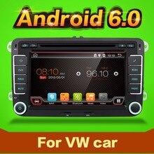 2 Din Quad Core android 6.0 car dvd player Aux gps Stereo For VW Skoda POLO GOLF 5 6 PASSAT CC JETTA TIGUAN TOURAN Fabia Caddy