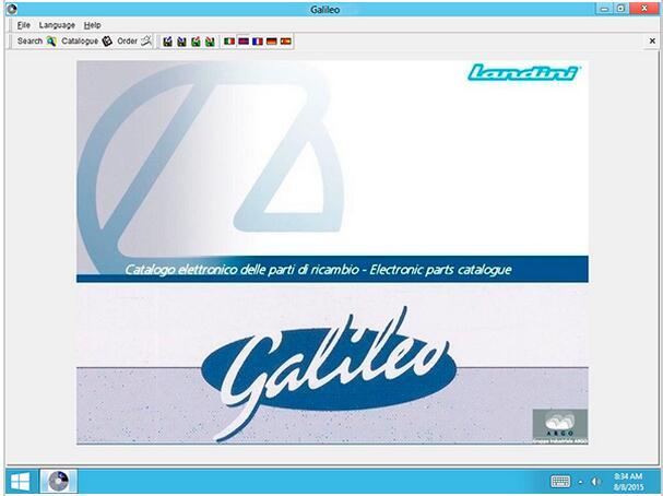 Цена за Landini EPC Galileo v8.0-каталог запчастей для Landini тракторы.