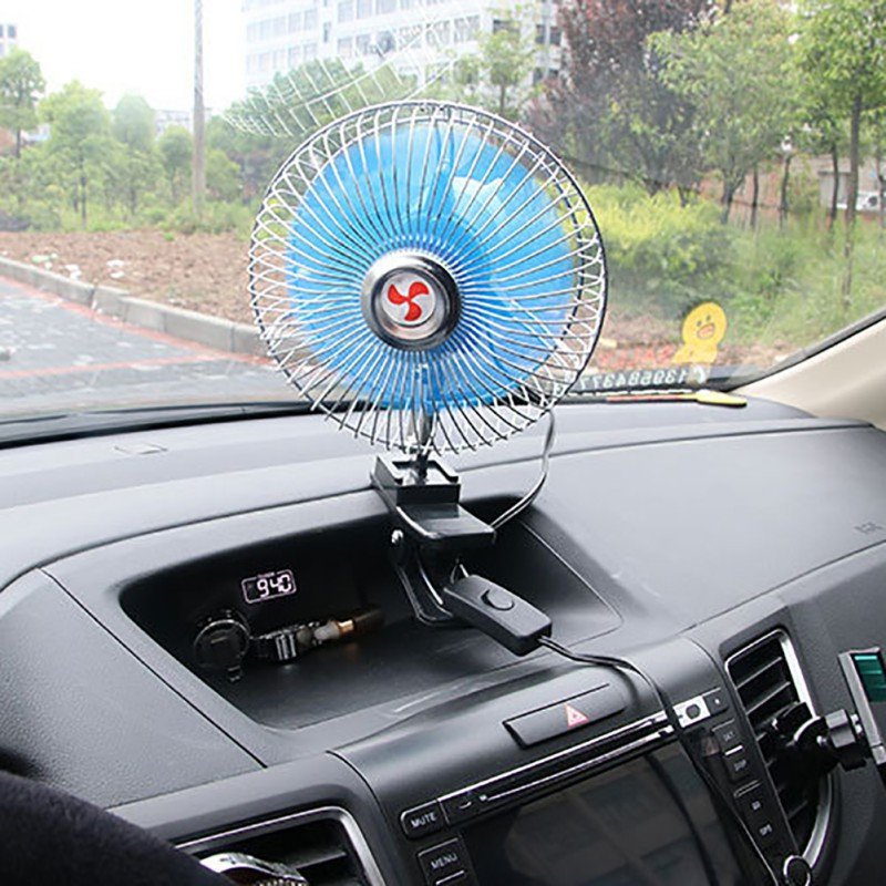 6 12vmini Electric Noise Summer Car Air Conditioner Adjustable Fan Cooling