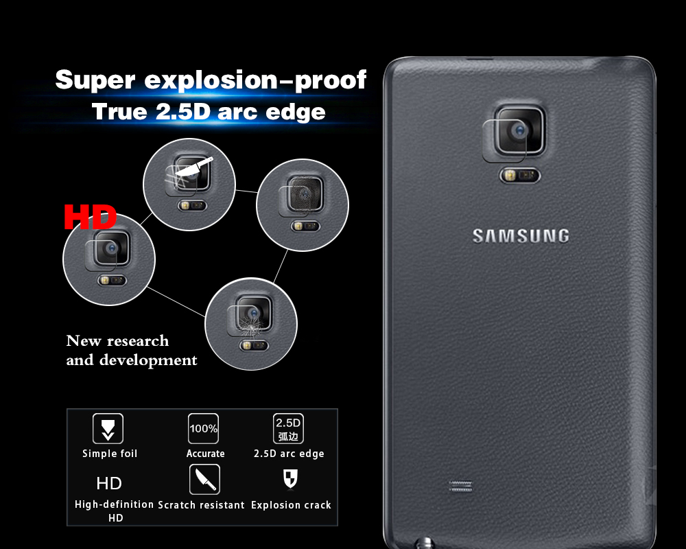 Genuine Back Camera Lens Tempered Glass Films For Samsung GALAXY Note Edge N9150 N915k N915L Rear Camera Lens Protector Films