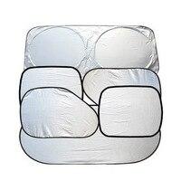 New 6Pcs Folding Silvering Reflective Car Windshield Window Sun Shade Visor Shield Cover Suction Cups Provided