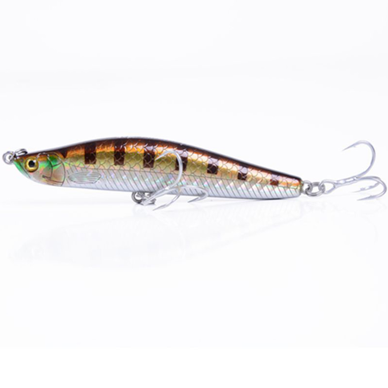 2016 New Brand Fishing Lure Sinking Minnow Isca Artificial 15g 82mm ABS Plastic Hard Lures Fishing <font><b>Wobblers</b></font> Owner Hooks