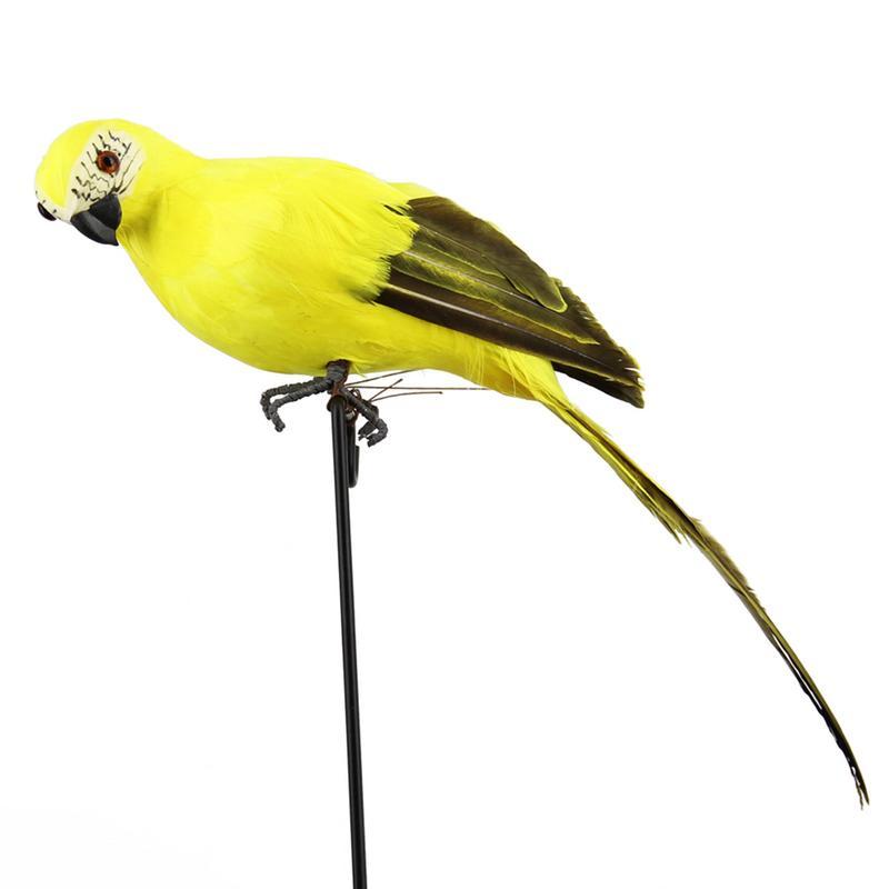 Моделирование перо попугай Ара витрина украшения сада Птица пена попугай украшения дома 35 см - Цвет: yellow