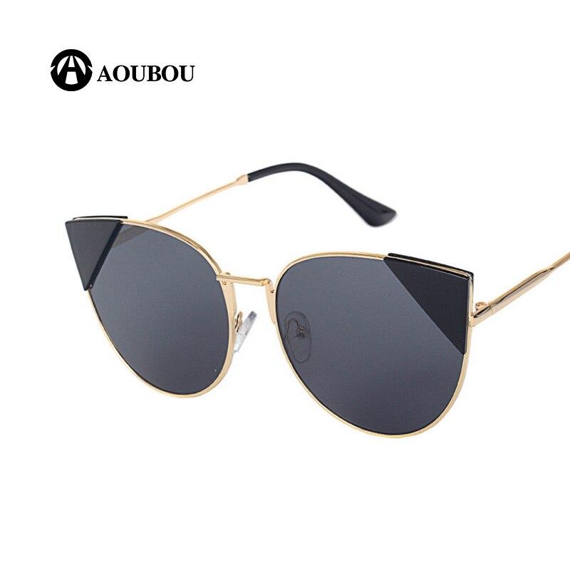 AOUBOU mode lunettes de soleil yeux de chat femmes marque Designer - Accessoires pour vêtements - Photo 5