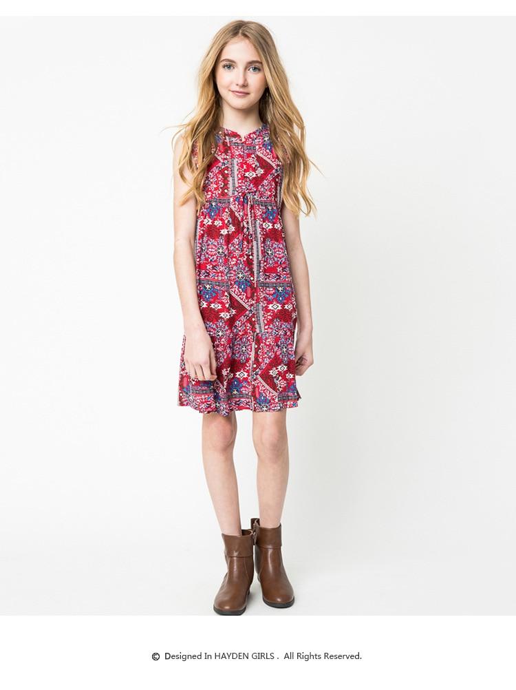 Bohemian Style Junior Floral Dresses Teenager Fashion Cotton Dress ...