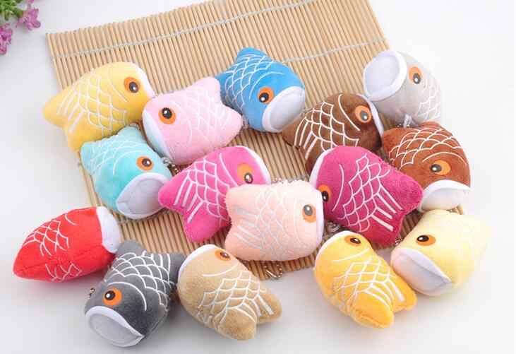 Estilo japonês carpa bandeira pingente boneca de brinquedo de pelúcia mini clamshell bonito boneca de pelúcia chaveiro 6.5 cm aleatoriamente preparar wj04