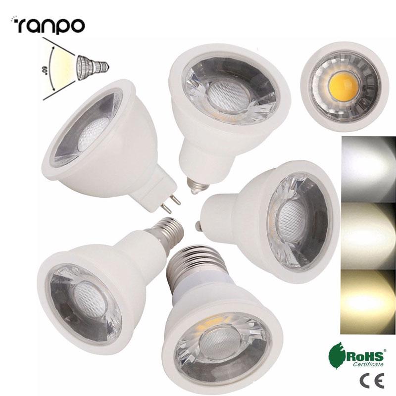 1Pcs 6Pcs 12Pcs Dimmable 15W LED Spotlight Bulb GU10 E26 E27 E11 E12 E14 MR16 White Lamp Bright Lighting AC220V Warm/Cool