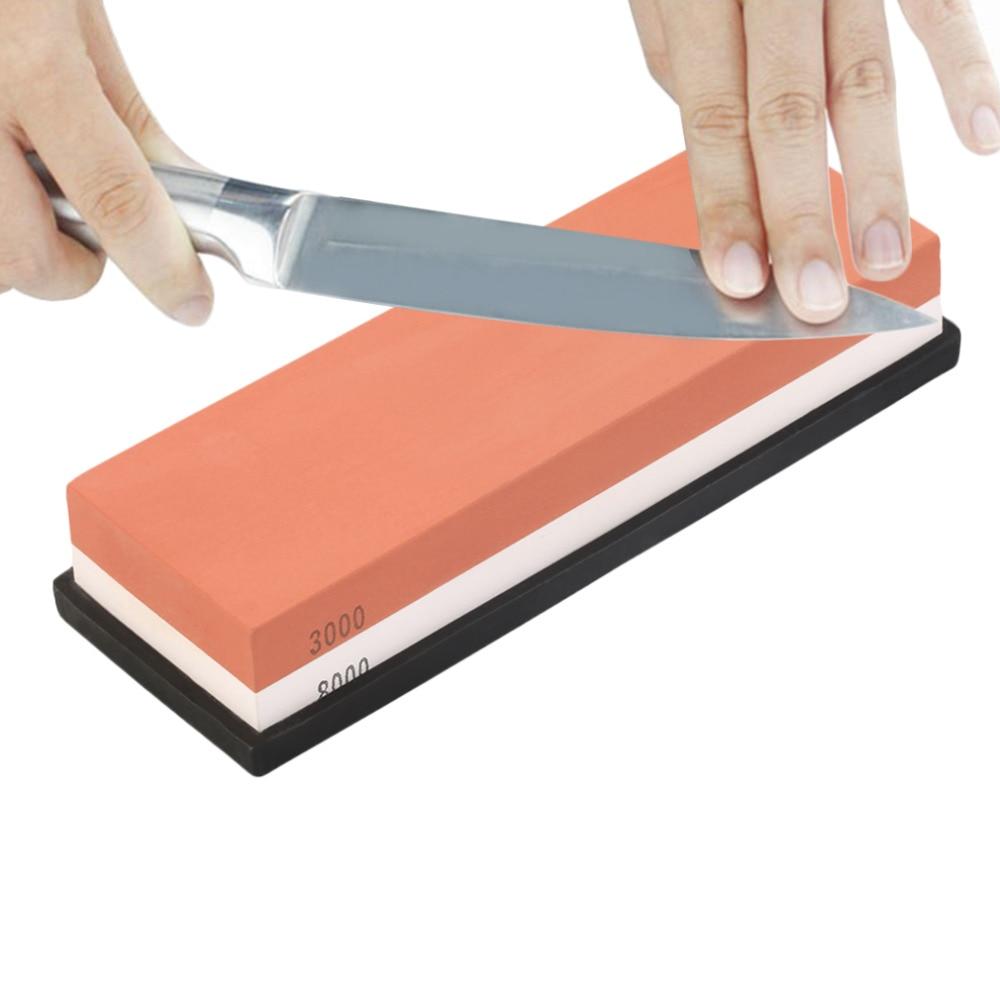 Wasser Stein Dual Schärfen schleifstein abgrifffeste Messer Spitzer Küche Werkzeuge schärfen stein 3000 #8000 #