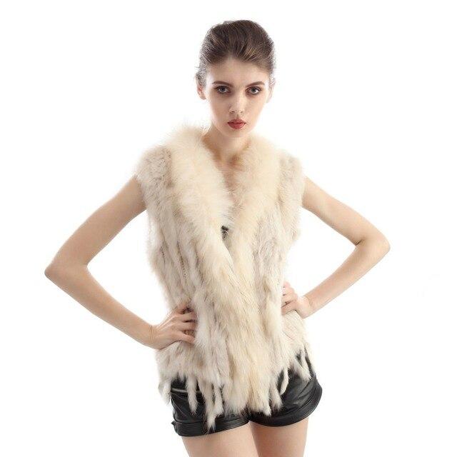 10 Colors Winter Women Short Real Fur Vest Elegant Natural Warm Genuine Fur Coat Female Outerwear 2016 New Fashion ZP571