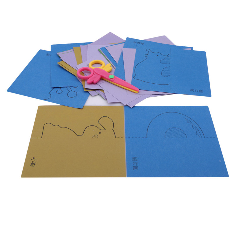 3-6 Years Old Baby Paper Cut Origami Toys Kindergarten Manual Diy Weave Cloth Early Learning Education Toys Handmade Craft Toys