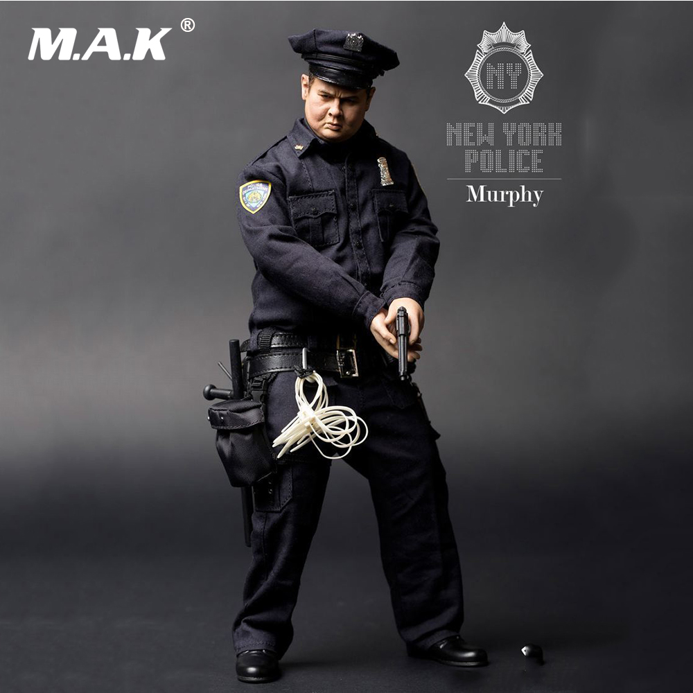 Collectible Gift 1:6 Full Set Male Action Figure New York Fat Police 2.0 Murphy Movable Man Figure Model 1 6 scale full set male action figure kmf037 john wick retired killer keanu reeves figure model toys for gift collections