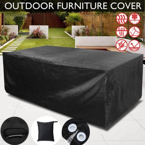 Patio Garden Outdoor Furniture Rain Cover Waterproof Wicker Sofa Set